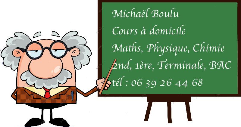 Cours à domicile : Maths, Physique, Chimie