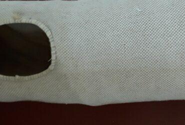 Tunnel pour chat en tissu